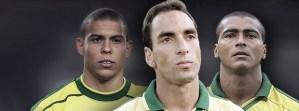 Sem ficar no muro: ex-parceiro de Romário e Ronaldo, Edmundo diz quem jogou mais