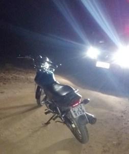Guarnição policial de Cubatí recupera na zona rural moto roubada na sede do município.