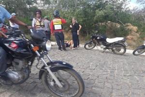 Bicicleta colide com moto na ladeira da UFCG de Cuité-PB deixa um ferido