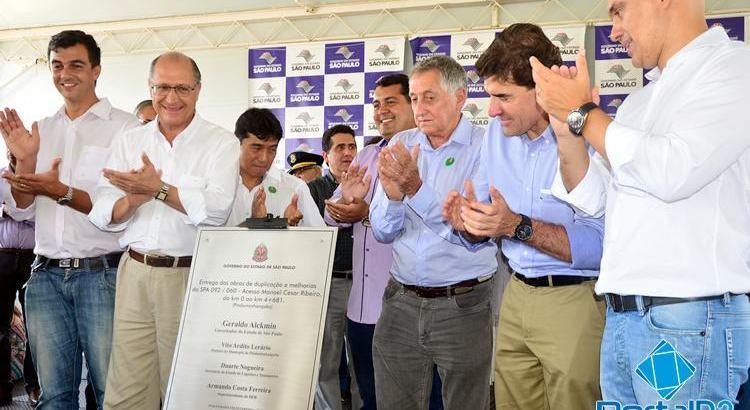 Alckmin inaugura duplicação da Manoel César Ribeiro em Pinda