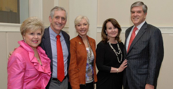 Judy Cushing, CEO Lines for Life; Mayor Charlie Hales, Nancy Hales, Sharon Smith and Senator Gordon Smith