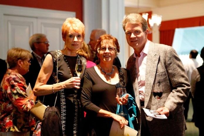 The Cellar Door owner Karen Hinsdale with Sallie Dutton (Stimson-Miller Foundation) and Preisz Associates president Michael Preisz.