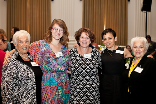 The family of Marie Lamfrom, for whom the Women of Distinction Award is named (L-R): Gert Boyle, Rachel Bany, Sally Bany, Lise Labby Raven, GSOSW board member Eva Labby.