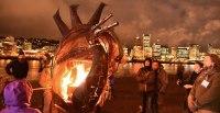 Portland Winter Light Festival Illuminates Waterfront