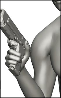 Male Gun Figure Reference Pose - Set 02