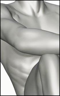 Male Sitting Figure Reference Pose - Set 05