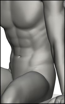 Male Sitting Figure Reference Pose - Set 07