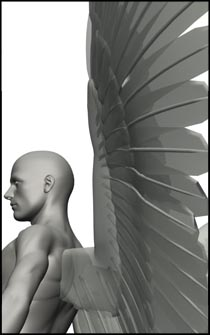 Male Angel Pose for Figure Reference - Set 03