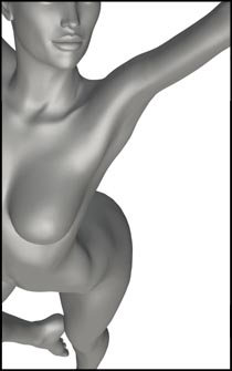 Female Dance Pose for Art Anatomy Reference and Figure Drawing