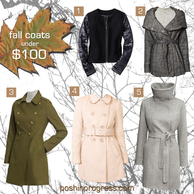 fall coats for women under $100