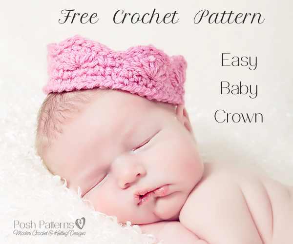 Crochet Baby Crown Pattern : Free Baby Crown Crochet Pattern