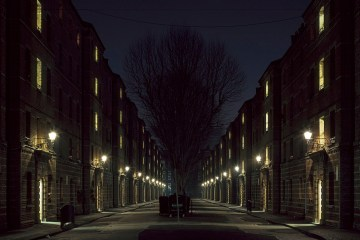Dark City - Victorian housing blocks, SW1