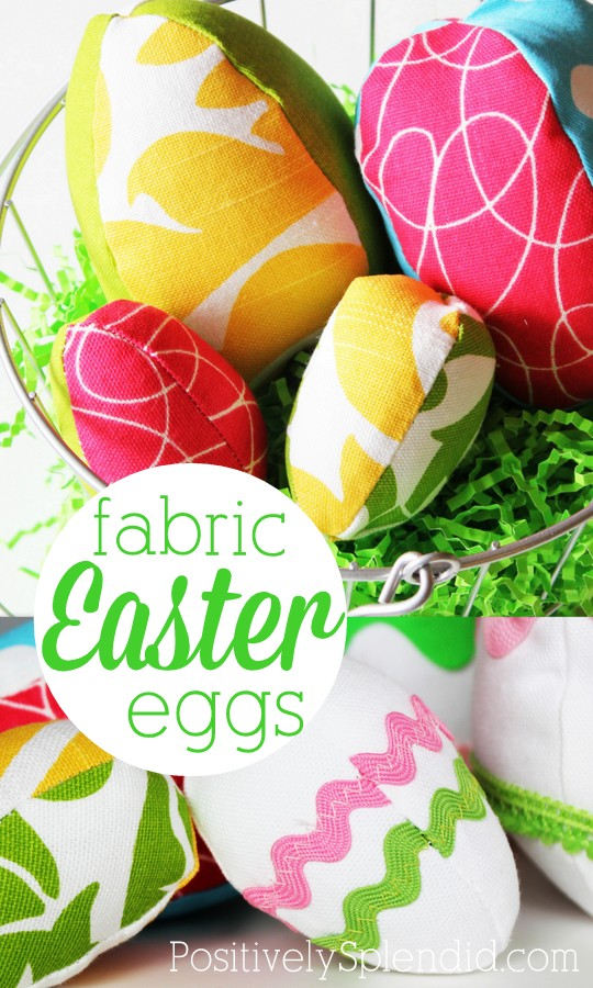 Free fabric Easter egg pattern. These are so fun!