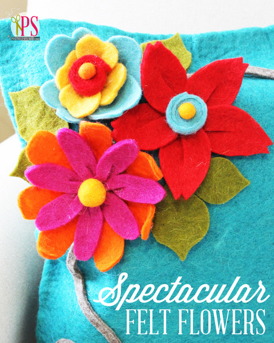 Three Spectacular Felt Flower Tutorials (No-Sew!) :: PositivelySplendid.com