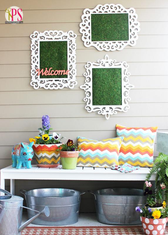 spring front porch garden bench 4-001