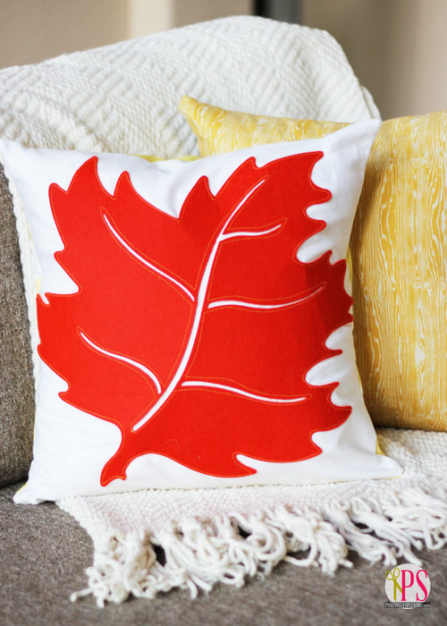 You'll never believe how easy this fall leaf pillow at Positively Splendid is to make! So pretty!