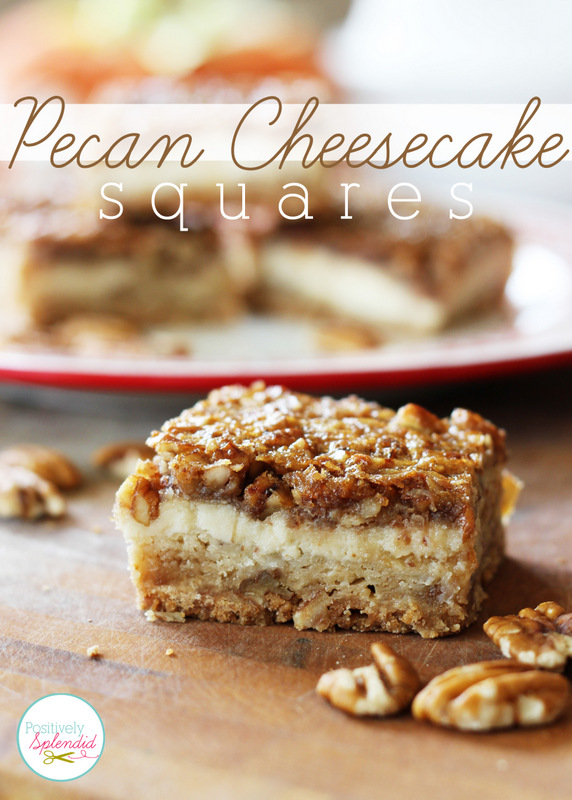 Pecan Cheesecake Squares Recipe at Positively Splendid - A layer of ...