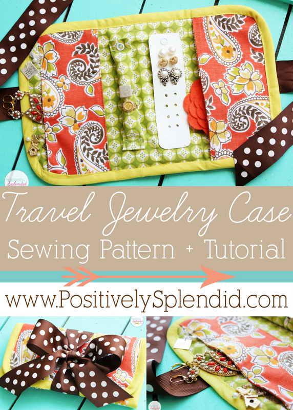 Travel Jewelry Case Sewing Pattern