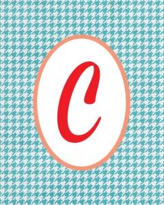 Blue Monogram C