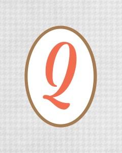 Grey Monogram Q