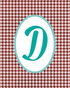 Red Monogram D