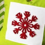 Scandinavian Snowflake Pillow