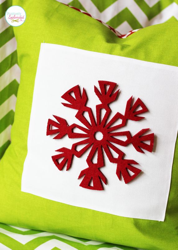 This snowflake pillow at Positively Splendid has such a pretty, Scandinavian feel, and it can be made in minutes!