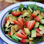 Asian Strawberry Spinach Salad
