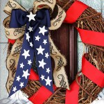 Patriotic Stars and Stripes Wreath