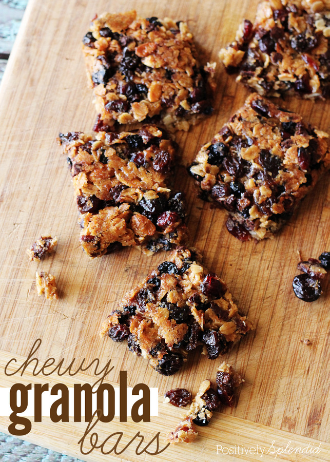 Delicious, chewy granola bars that contain ONLY wholesome, easy-to-pronounce ingredients! Yum!