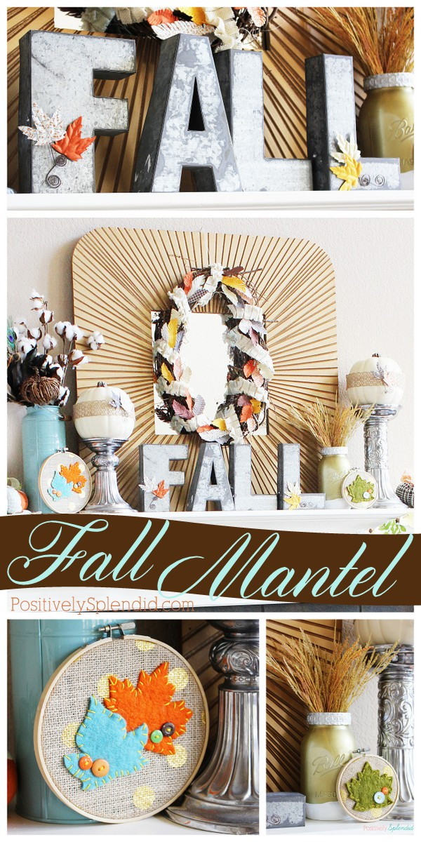 Lovely fall mantel decorations with so many fun handmade projects! #MichaelsMakers