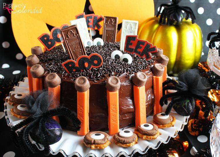 Easy Graveyard Halloween Cake #HersheysHalloween