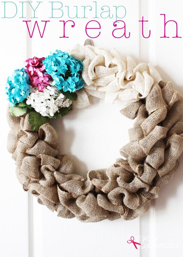 DIY Burlap Wreath Tutorial at Positively Splendid