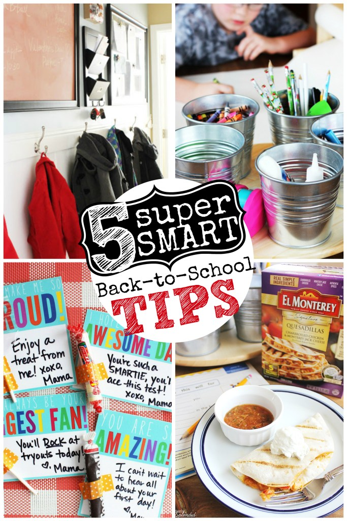 5 Super Smart Back to School Tips--So many great ideas here for making the new school year easier! #momwins