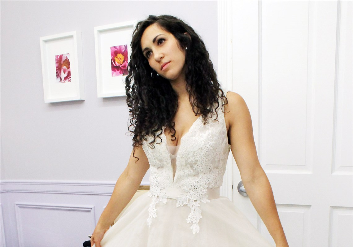 Idyllic Internet Star Says To Pittsburgh Native Internet Star Says To Dress Say Yes To Dress Store Say Yes To Dress Shay Pittsburgh Native Shoshana Roberts Will Be Pondering If She Native wedding dress Say Yes To The Dress
