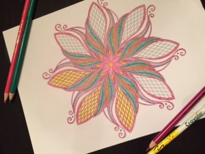 Warrior Mom self-care: adult coloring!