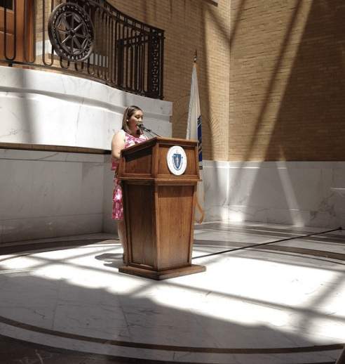 Margaret Rice | Postpartum Progress at the Massachusetts State House for the 2nd Annual PPD Awareness Day