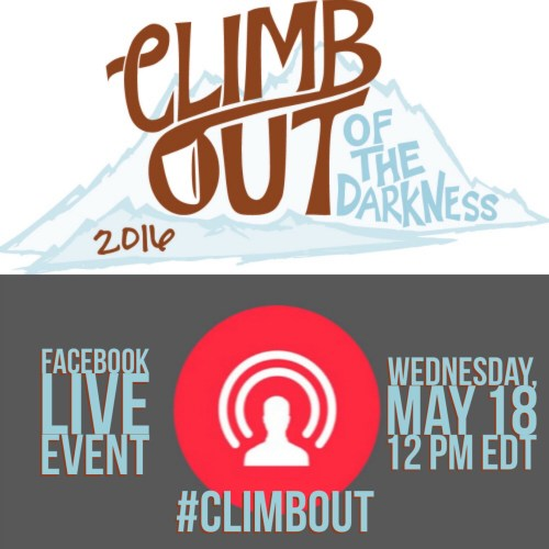 Join Us for a Climb Out of the Darkness Facebook Live Event -postpartumprogress.com #climbout
