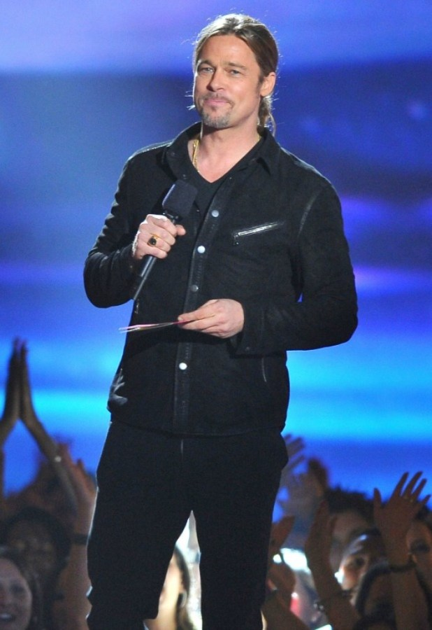 brad-pitt-mtv-movie-awards The 10 Most Famous Male Actors in 2013 Awards