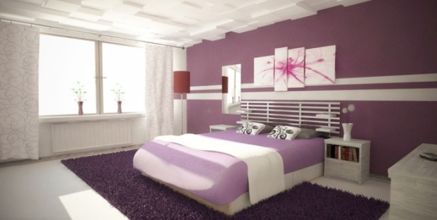 Magnificent-Purple-Bedroom-Daytime- Discover the Furniture Trends for 2014