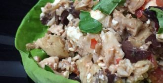 Mediterranean Chicken Lettuce Wraps Recipe