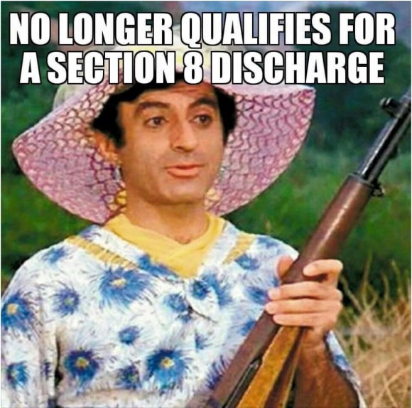 Who's the gun-toting, bitter Klinger now?