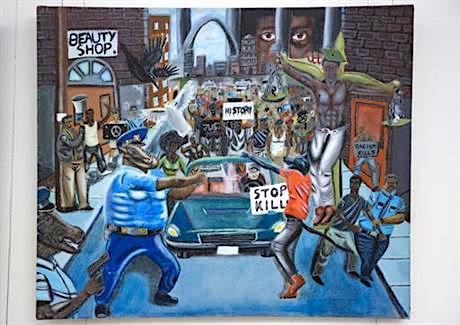 Controversial painting depicting cops as pigs is now subject of lawsuit