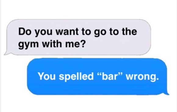 Spelled Bar Wriong