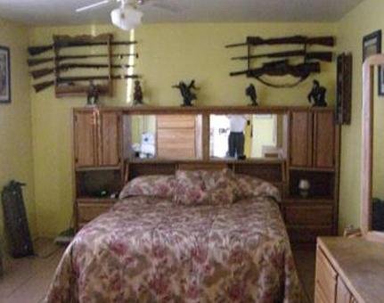 Guns In Bedroom