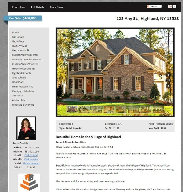 Example Single Property Website