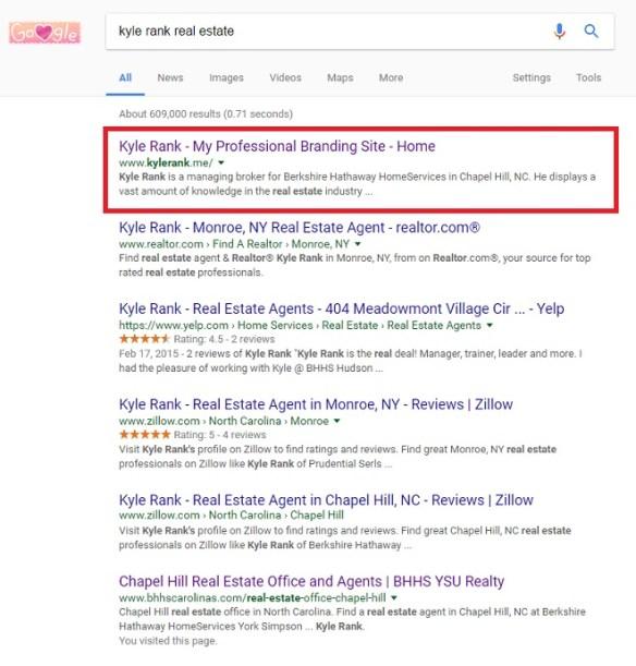 Follr Profile Organic SEO Search Results