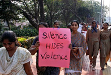 Indian women participate in a march to mourn the death of a gang rape victim in Hyderabad, India, Thursday, Jan. 3, 2013. Indian police were preparing Thursday to file rape and murder charges against a group of men accused of sexually assaulting the 23-year-old university student for hours on a moving bus in New Delhi. The Dec. 16 attack on the woman, who later died of her injuries, has caused outrage across India, sparking protests and demands for tough new rape laws, better police protection for women and a sustained campaign to change society's views about women. (AP Photo/Mahesh Kumar A.)