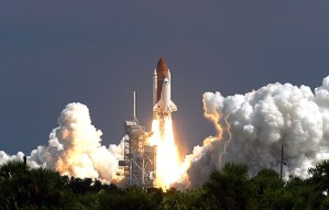 Space Shuttle Atlantis lifting off in September 2006. Atlantis was the last shuttle to fly; the program ended in 2011. (AP Photo/Dr. Scott M. Lieberman)