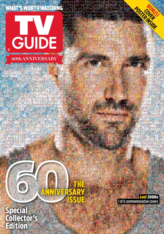 Tv guide magazine s anniversary covers are made from old for Anniversary magazine